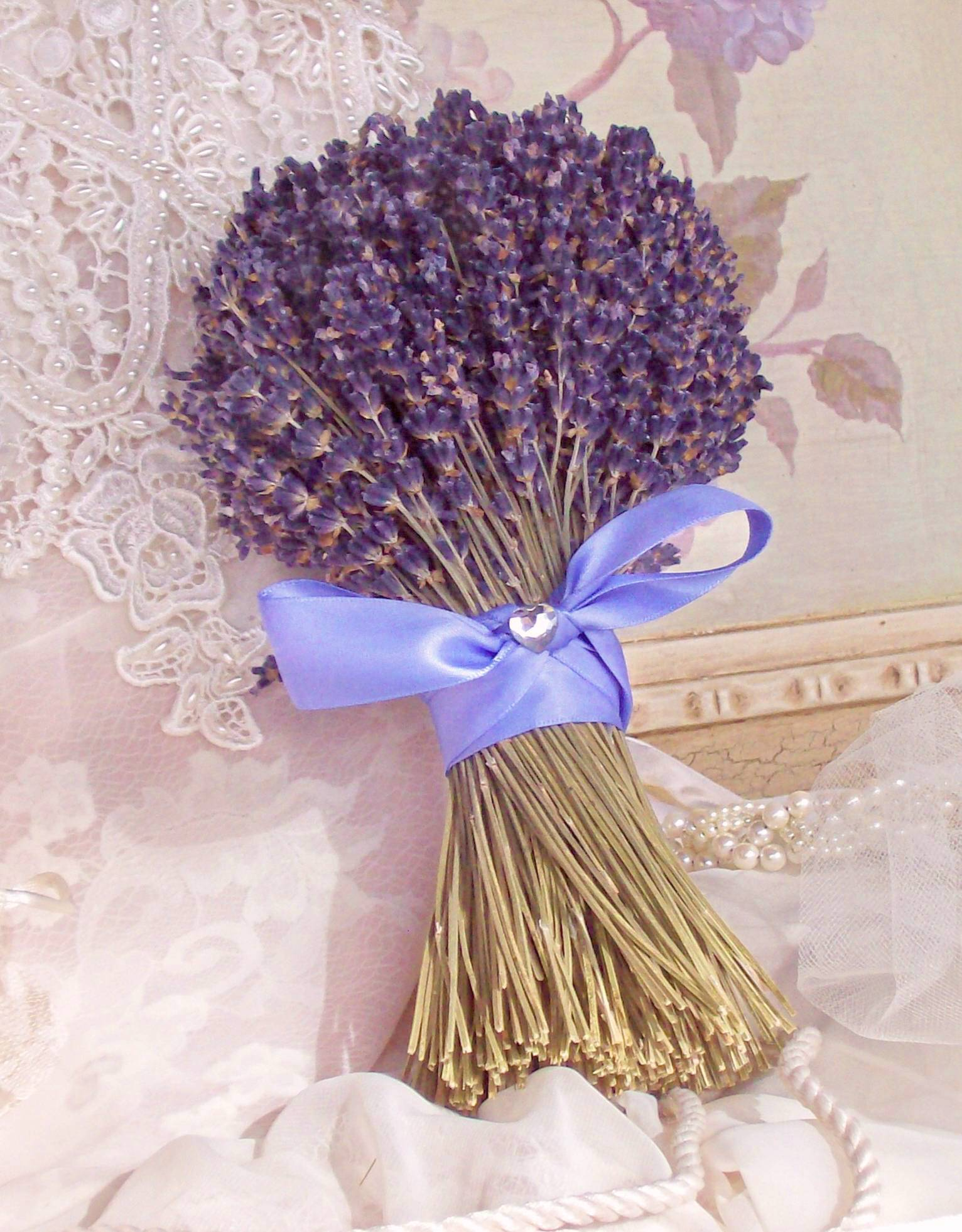lavender bridesmaid bouquet by lavender fanatic