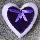 Lavender Heart Pillow by Lavender Fanatic.